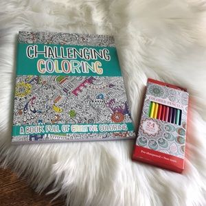 Other - ADULT COLORING BOOK AND COLORED PENCIL BUNDLE
